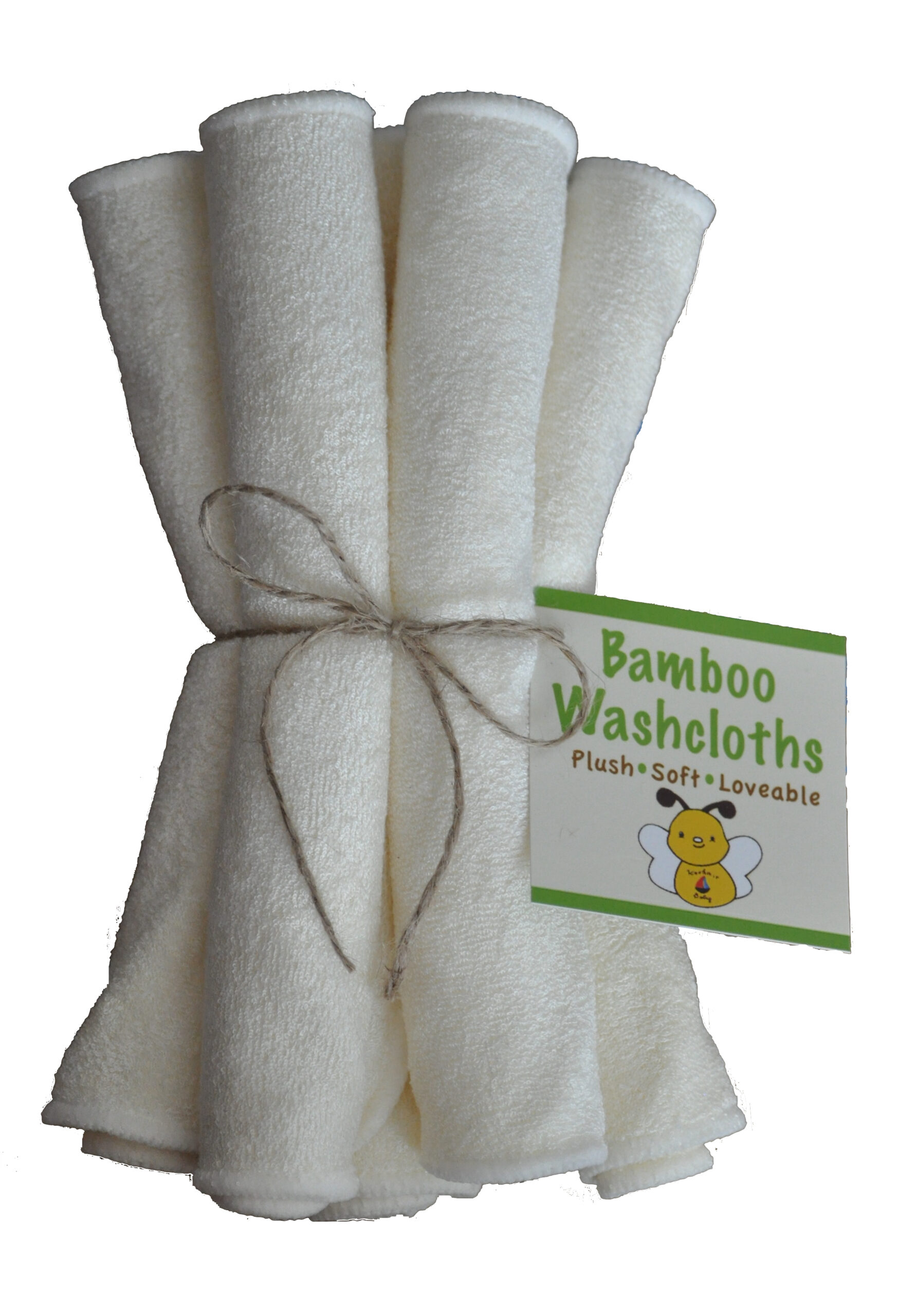 Organic Bamboo Washcloths (6 Pack)