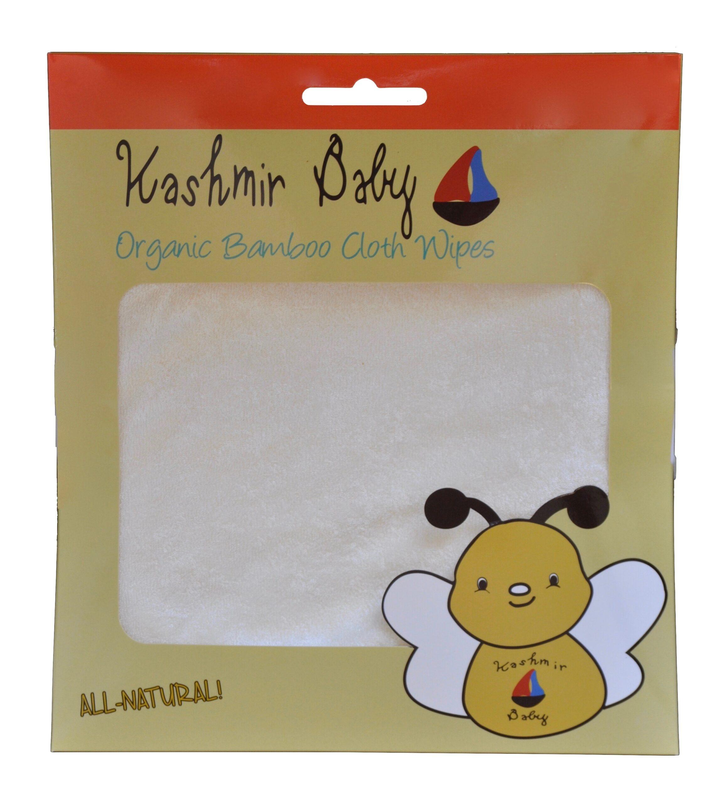 Organic Bamboo Cloth Diaper Wipes.